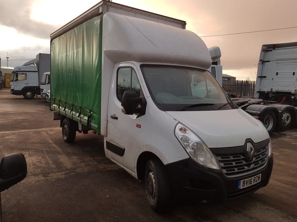 Renault Master 3.5 14FT Curtain. 125 BHP, Diesel, Manual, 42,331 miles, £14,999 + VAT. Contact Jim Farrell directly on 07890 533587 for more details.