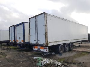 2003 Box Vans. Choice of 4.2 / 4.3m boxes barn doors or roller shutters on drum brakes to take away as seen from £1350 + VAT. Some MOT'd some storage use.
