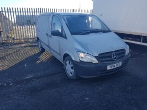 2014 Mercedes-Benz Vito 2.1 CDI 113 (EU5) - COMPACT 113CDI silver panel van. Diesel, manual, 136 BHP, MOT Expiry 8/19, 121,433 miles. Please call Jim Farrell directly on 07890 533587 for more information.