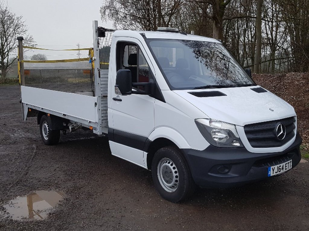 2014 (64) Mercedes-Benz Sprinter flatbed. 129 BHP, Diesel, Manual, 146,218 miles. MOT expiry 11/2019, choice available. £6,999 + VAT, contact Jim Farrell directly on 07890 533587 for more details.