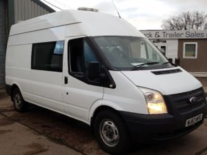 Choice of 4 x 2013 (63) Ford Transit 125-350 Welfare Vans. Plain white, manual gearboxes, Medium Wheel Base, 7 seater welfare van. High roof, rear top beacon bar lights, side door leading to 4 seats internally with table, sink, hot water boiler, microwave, easy clean floor, rear toilet and hand cleaner wash area, roof vents, heavy duty rear access step and tow hitches. Low mileages and very clean condition. Contact Jim Farrell directly on 07890 533587 for more details.