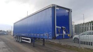 2009 Montracon, 4.0m plain blue curtainsider.