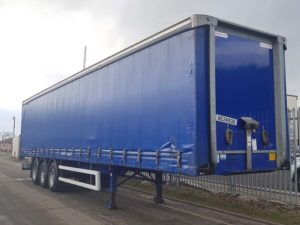 2009 Montracon, 4.0m plain blue curtainsider.