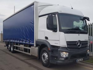NEW (68) Plate 2530 Mercedes Actros 26T Curtainsider Tail Lift Rigid. 26 tonne, Euro 6, 300 hp, auto box, Streamspace sleeper cab, 9m freepost curtainsider 2.8m high bodies, barn doors. 2 tonne Anteo tuckunder tail lift, rear lift axle. Full manufacturer's warranty applies. From £311.13 per week over 5 years on a HP agreement.