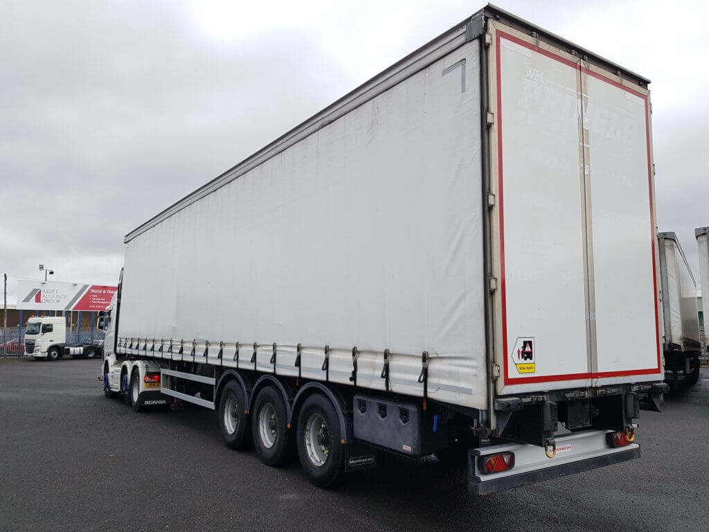 2012 Montracon 4.5m Curtainsiders. 3.1m side aperture, BPW drum brake axles, sliding side posts, cargo nets, internal straps, tool boxes, raise lower valve facility. Choice of 6 available.