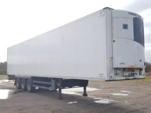 2013 Schmitz single temperature fridges. SAF drum brake axles, MTK SLX 300 fridge units, barley seed floors, 2.6m internal aperture, 2 rows of loadlock, raise lower valves, some with spare wheel carriers. Choice available.