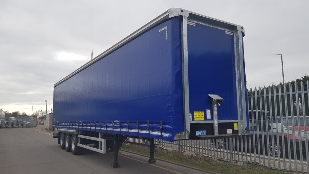 """NEW 2019 Montracon 4.2M ENXL Rated Curtainsiders. Aircraft blue, BPW drum brake axles, ENXL rated bodies, 3 sliding side posts per side, 8'9"""" side aperture, 26 internal straps, raise lower valve facility, wisa deck floors, Goodyear tyres, lashing rings, full manufacturer's warranty applies, choice of 3."""