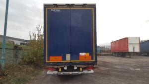 2011 Krone tail lift Euroliner with a lifting roof facility. BPW drum brake axles, Wisadeck floor with 33 sockets to help secure loads, raise lower valve and ferry rings, Zepro 2000kg tail lift in service. Internal aperture around 2.57m but can fluctuate depending where the roof is sited as will raise up by 150mm. MOT August 2019.