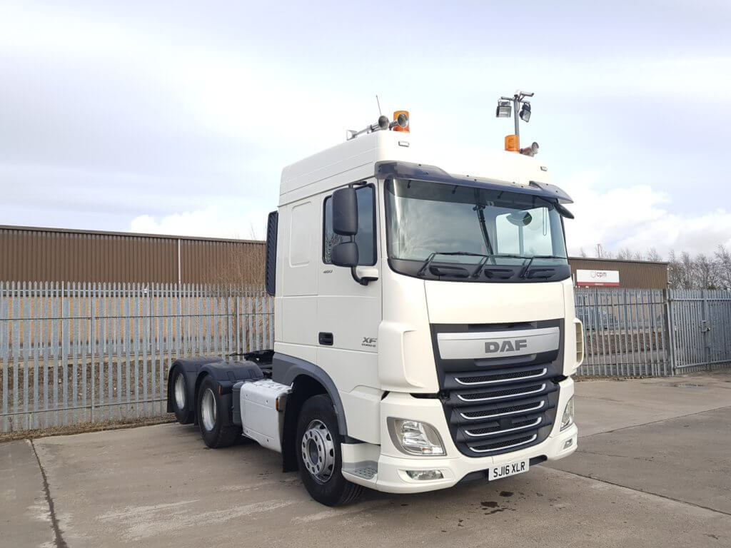 2016 DAF XF Spacecab. Twin wheel tag, Manual box, Long wheel base, Fixed 5th wheel, Double sleeper, Air horns, Twin work lights, Anderson connection, Beacons, Euro 6, 460 bhp, 295,000kms.
