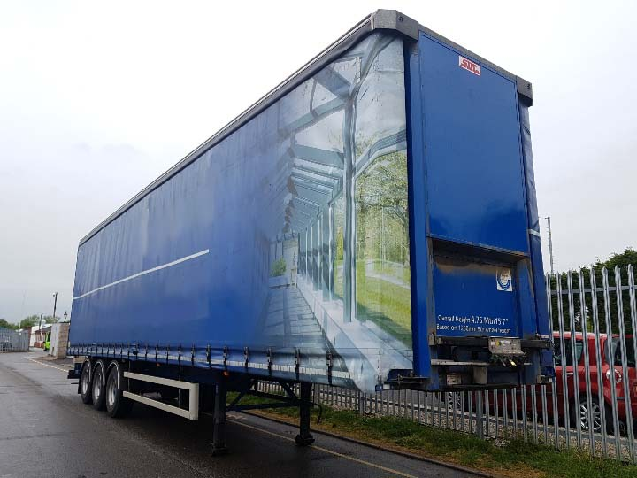 2016 SDC 4.75m Curtainsider. 3.18m side aperture, 3 sliding side posts per side, BPW drum brake axles, wisa deck floors, choice some with Moffet Kits, some without.