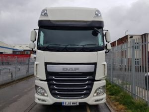 2015 DAF XF 510. Euro 6, 510 hp, twin sleeper Superspace cab, auto box, mid lift, fridge, ½ leather heated seats, infilled catwalk, colour coded mirrors, sliding 5th wheels, choice available.