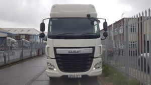 2015 DAF CF460 Space Cab, Euro 6 Tractor unit. Single sleeper, Sliding fifth wheel, Cruise control, Air Con, White, Low kms. Choice of 2 units.