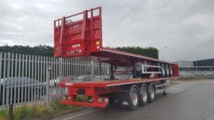 NEW 2019 SDC Flat Beds Choice of PSK & Post and Socket Flats. Red, 1.5m ENXL rated headboards, BPW drum brake axles, 12 posts and sockets, PSK option available also with 12 twistlocks, r/l valves, full manufacturer's warranty applies.