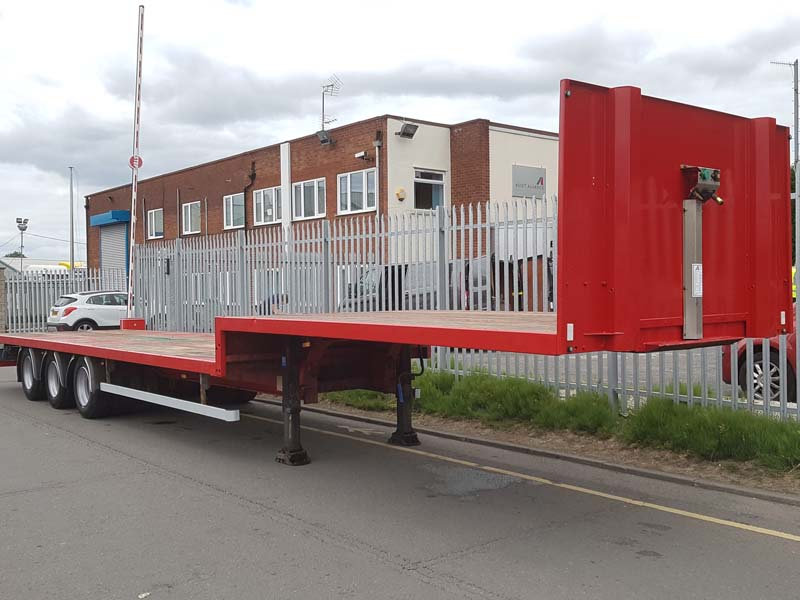 2012 SDC – BPW Axles, Drum Brakes, Keruing Floor, 19.5 Inch Wheels, Deck length 9.12m, Top Step Deck length 4.14m, Partially Refurbished in Red, June 2020 MOT.