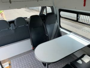 2014 Ford Transit Welfare Van. 125 T350, Manual Gearbox, Day Cab, Navigation system, Climate Control, Kitchenette, 123bhp, Combined MPG: 34.9.