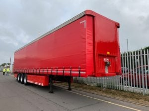 2010 SDC. 4m External Height, 2.51m Internal Height, SAF Axles, Drum Brakes, Flush Doors, Omega Floor, Refurbished in Red and Fitted with Brand New ENXL Rated Curtains.