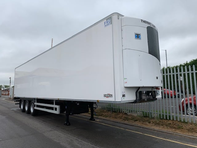 2019 Chereau. Thermoking SLXi 300 units, 2.6m Internal Height, SAF Axles, Drum Brakes, Resin Floor, Barn Doors.
