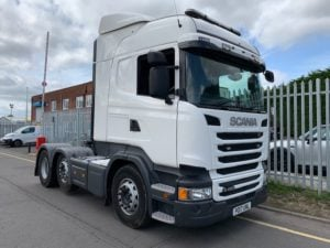 2017 Scania. Euro 6, 450bhp, Twin Sleeper Highline Cab, Opticruise Gearbox, FORs Camera System, Fridge, Mid Lift Axle, Low KM's Choice Available.
