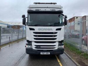 2017 Scania. Euro 6, 450bhp, Twin Sleeper Highline Cab, Opticruise Gearbox, FORS Camera System, Rear Lifting Axle, Fridge, 282,552km, Excellent Condition & Choice available.