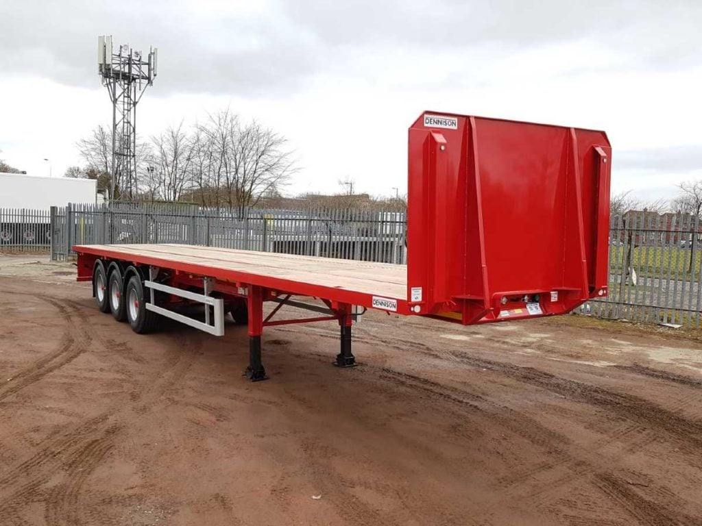 A flatbed trailer
