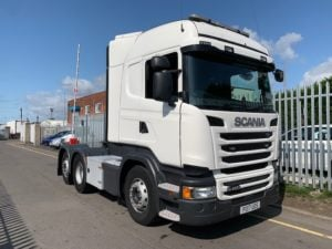 2017 Scania. Euro 6, 450bhp, Twin Sleeper Highline Cab, Opticruise Gearbox, FORS Camera System, Rear Lifting Axle, Fridge, 278,359km, Excellent Condition & Choice available.