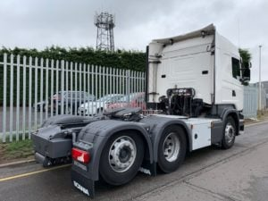 2017 Scania. Euro 6, 450bhp, Twin Sleeper Highline Cab, Opticruise Gearbox, FORS Camera System, Rear Lifting Axle, Fridge, 278,362km, Warranty & Choice available.