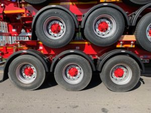 Brand New 2019 Dennison Skeletal Trailers. BPW Axles, Drum Brakes, 14 Twist Locks, Raise Lower Valve Facility, Choice Available in Red or Blue.