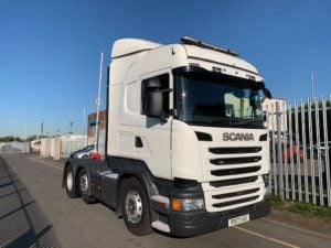 2017 Scania. Euro 6, 450bhp, Twin Sleeper Highline Cab, Opticruise Gearbox, FORs Camera System, Fridge, Mid Lift Axle, 278,815km, Warranty & Choice Available.