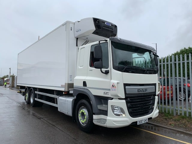 2017 (67) Daf. Euro 6, 330bhp, Single Sleeper Cab, AS Tronic Automatic Gearbox, Carrier Supra 1150Mt Fridge Engine, Montracon Body, Dhollandia Tuckaway Tailift (2000KG Capacity), Roller Shutter Rear Door, 135,754km.