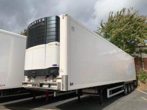 2009 SOR Dual Temp Fridge. Carrier Vector 1850 Mt Engine, Twin Evaporator in rear of trailer, BPW Axles, Drum Brakes, Barn Doors, 2 x Load Lock Rails.