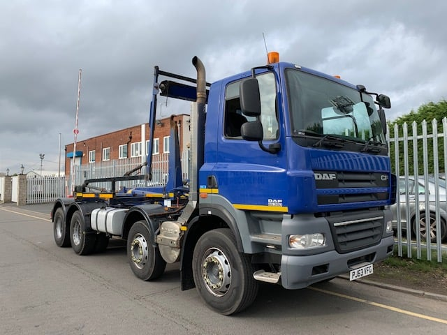2013 Daf CF85. 360 Hookloader. AJK Hook Equipment, 8x4, Euro 5, 360bhp, Day Cab, Automatic Gearbox, Camera System, Steering Wheel Controls, Warranty & Choice Available.