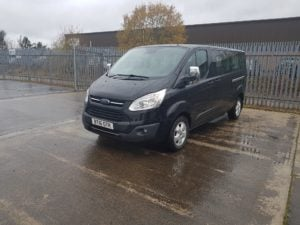 2016 Ford Tourneo Custom 2.0TDCi, 8 Seater Mini Bus, Titanium Spec, Manual Gearbox,162,443 Miles, Anti-Lock Brakes (ABS), Alarm, Driver Airbag, Electronic Stability Program (ESP), Immobiliser, Passenger Airbag, Side Airbags, AM/FM Stereo, CD Player, Navigation System, Premium Sound System, Air Con, Climate Control, Cruise Control, Parking Sensors, Power-assisted Steering (PAS).