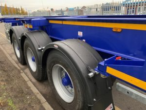 Brand New 2019 Dennison Skeletal. BPW Axles, Drum Brakes, 14 Twist Locks, Raise Lower Valve Facility, Choice Available in Red or Blue, Full Manufacturers Warranty Applies.