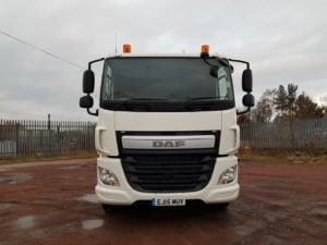 2015 Daf CF. 32 Tonne, Day Cab, 400bhp, Euro 6, AS Tronic Automatic Gearbox, PTO, 30 Foot Body, Beaver Tail Body, Winch, Flip Toe Ramps, Storage Toolboxes.