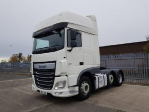 2017 Daf XF Tractor Unit. Euro 6, 510bhp, Superspace Twin Sleeper Cab, AS Tronic Automatic Gearbox, Steering Wheel Controls, Aluminium Catwalk Infill Panels, Mid-Lift Axle, Choice & Warranty Available.