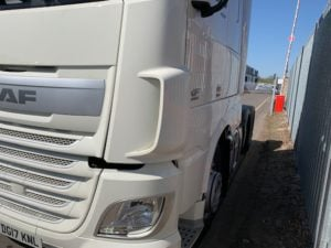 2017 Daf. Euro 6, 460bhp, Superspace Twin Sleeper Cab, 12 Speed AS Tronic Automatic Gearbox, 3.95m Wheelbase, Steering Wheel Controls, Air Con, Electrically Heated & Adjustable Mirrors, Radio/USB, Mid-Lift Axle, Exhaust Brake, 490 Litre Fuel Tank, 90 Litre ADBlue Tank, Aluminium Catwalk Infill Panels, Fully Colour Coded, Warranty & Choice Available.