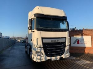 2017 Daf XF Tractor Unit. Euro 6, 460bhp, Superspace Twin Sleeper Cab, AS Tronic Automatic Gearbox, Steering Wheel Controls, Aluminium Catwalk Infill Panels, Mid-Lift Axle, Choice & Warranty Available.