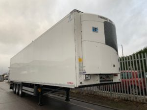 Brand New 2019 Schmitz Single Temp Fridge. Thermoking SLXi 300 Engine, 2.6m Internal Height, SAF Axles, Drum Brakes, New style Aluminium Floor, 2 x rows V7 Loadlock Rails, Raise Lower Valve Facility.