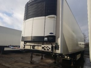 2006 Krone Single Temp Fridge. Carrier Vector 1800 Mt Engine, 4.11m External Height, BPW Axles, Disc Brakes, Chequer Plate Floor, Roller Shutter Door.