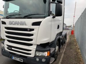 2017 Scania Highline. Euro 6, 450bhp, Twin Sleeper Highline Cab, Opticruise Gearbox, Fridge, Mid-Lift Axle, Twin 300 Litre Fuel Tanks. Warranty Available.