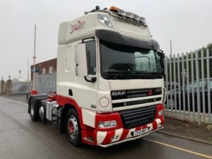 2012 Daf CF85. Euro 5, 510bhp, Single Sleeper Space Cab, Manual Gearbox, Fridge, PTO, Lightweight Mid Lift Axle, Low Mileage.