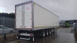 2019 Montracon Box Trailer. 4.2m External Height, 2.71m Internal Height, BPW Axles, Drum Brakes, Block Floor, Barn Doors, 2 x Load Rails, Raise Lower Valve Facility.