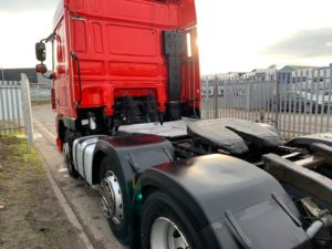 2011 (61) Daf XF Tractor Unit. 460bhp, Space Single Sleeper Cab, AS Tronic Automatic Gearbox, Steering Wheel Controls, Aluminium Catwalk Infill Panels, Mid-Lift Axle.