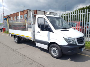 2015 (65) Mercedes Sprinter. Traffic Management Spec, Manual Gearbox, Day Cab, Reverse Camera, DEL Column Tailift (500KG Capacity).