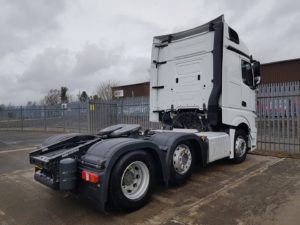 2016 Mercedes Actros 2545, Euro 6, 450bhp, Streamspace Single Sleeper Cab, Automatic Gearbox, Steering Wheel Controls, Mid-Lift Axle, Fridge, Choice & Warranty Available.