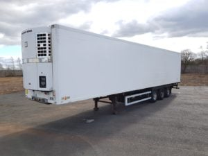 2009 Gray & Adams Dual Temp Fridge Trailer. Thermoking Spectrum Engine, 2.49m Internal Height, BPW Axles, Drum Brakes, Aluminium Floor, Barn Doors, Load Lock Rails, Raise Lower Valve Facility.