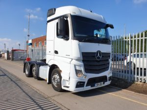 2014 Mercedes Actros 2545, Euro 6, 450bhp, Streamspace Single Sleeper Cab, Power Shift Semi Automatic Gearbox, Steering Wheel Controls, Warranty & Choice Available.