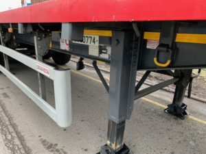 2019 Dennison Timber Spec Flatbed, 13.6m Tri Axle, Posts & Sockets, BPW Axles, Disc Brakes, Keruing Floor, 2 x Toolboxes, Raise Lower Valve Facility.