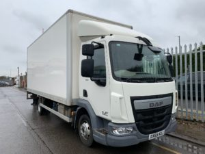 2015 Daf LF Box Tailift. 7.5 Tonne, 150bhp, DEL Column Tailift (1000KG Capacity), 20ft Body, Day Cab, Euro 6, Manual Gearbox, 55,203km, 2 x Load Lock Rails, Warranty Available.