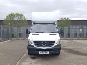 2017 Mercedes Sprinter, Manual Gearbox, Day Cab, DEL Column Tailift (500kg Capacity), Radio/USB, Boxvan Body, Steering Wheel Controls, 115,227km, Warranty Available.